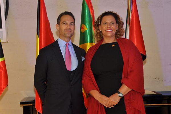 Jeremy Savory & Alexandra Otway Noel (Minister of Tourism of Grenada)