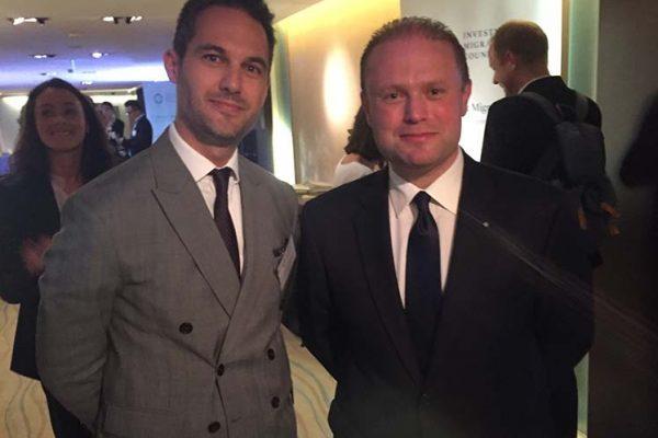 Jeremy Savory & Joseph Muscat (Prime Minister of Malta)