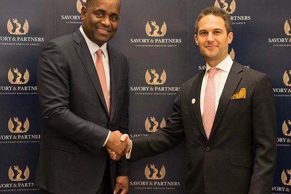 Jeremy Savory & Roosevelt Skerrit (Prime Minister of Dominica)