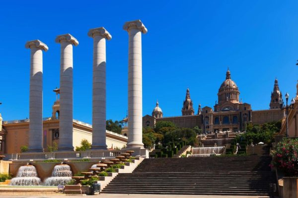 National Palace of Montjuic in sunny day. Barcelona