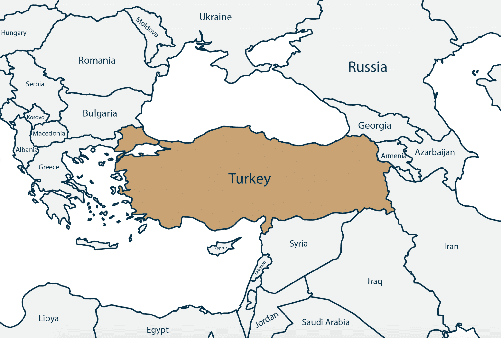 Map of Turkey - Citizenship by Investment - Savory and Partners