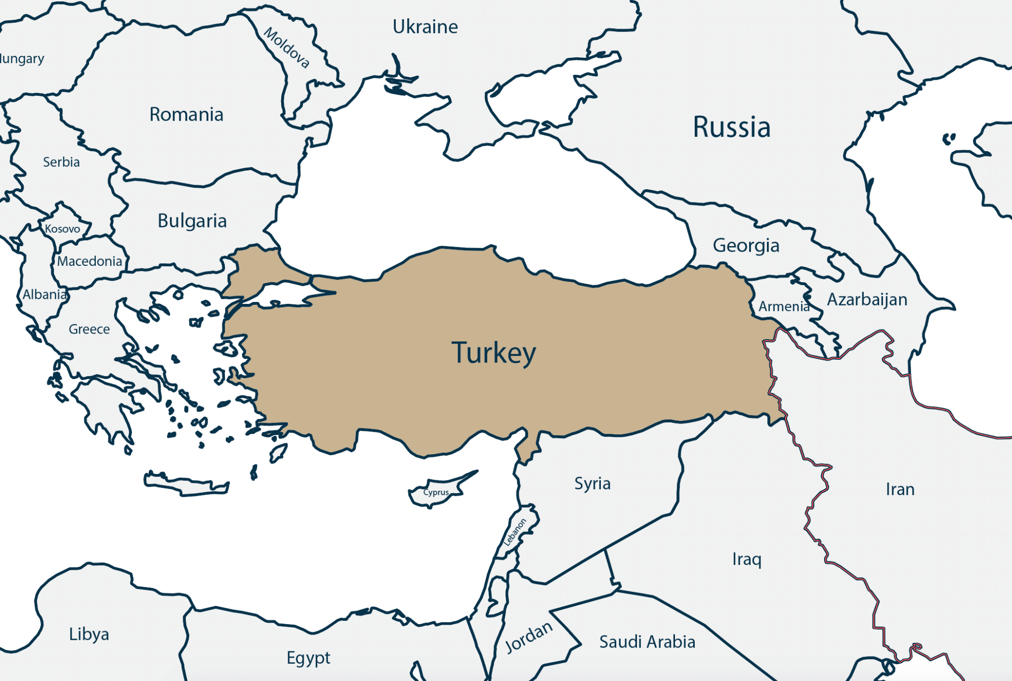 Map of Turkey - Savory and Partners