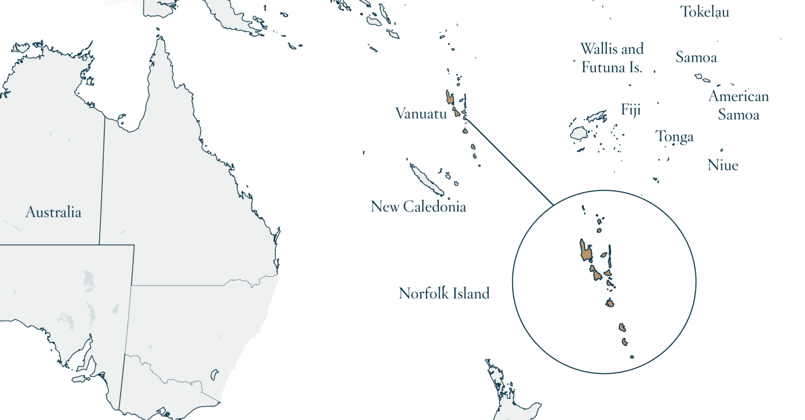 Map of Vanuatu - Savory and Partners