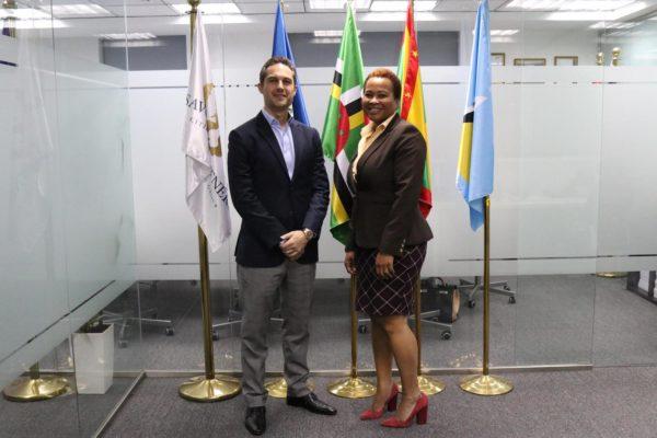 CEO Jeremy Savory & Cindy Emmanuel McLean, CEO of CBIU of Saint Lucia - Saint Lucia Citizenship by Investment - Savory & Partners - Dubai, UAE