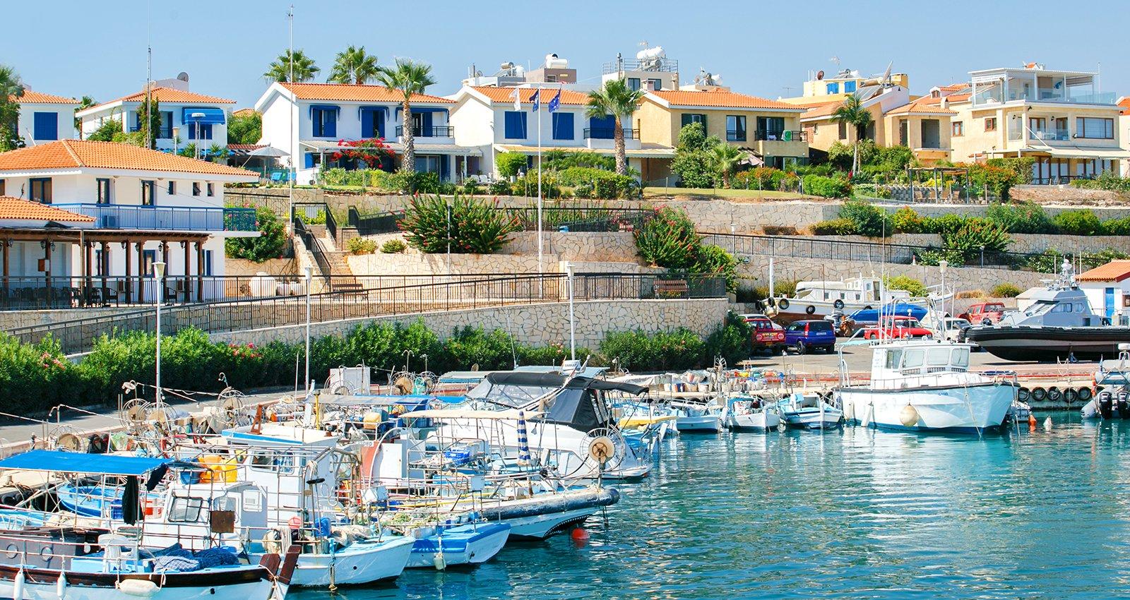 Marina in Protaros, Cyprus.