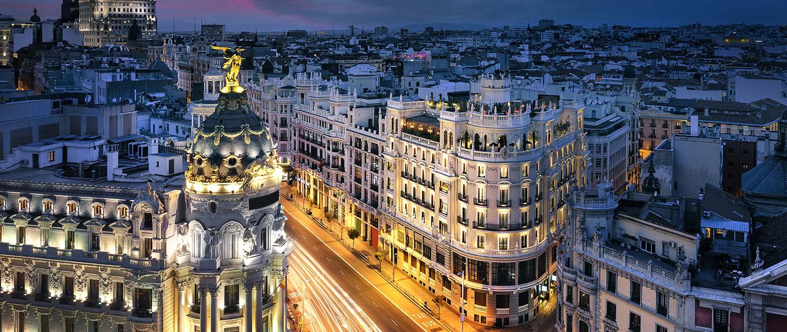Gran Via in Madrid City Center