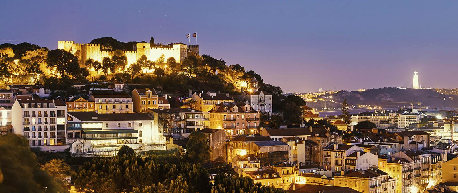 Lisbon City at night.