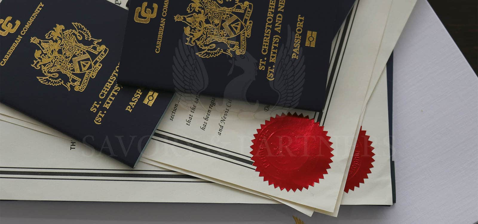 St Kitts & Nevis passports - Savory & Partners offices in Dubai.