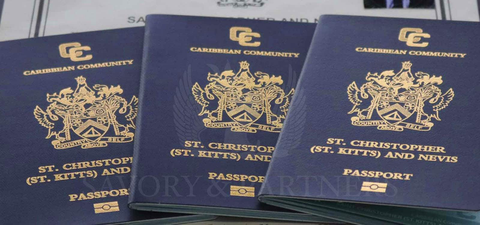 St Kitts & Nevis passports and citizenship certificate.