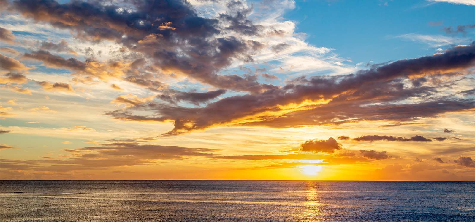 Sunset landscape in the Caribbean island of Dominica