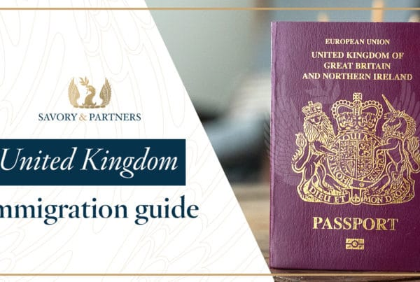 UK Immigration by Investment Program Guide - Savory & Partners