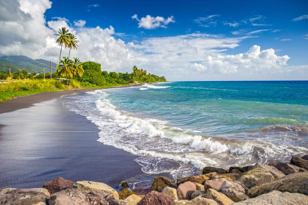 St Kitts & Nevis combines beautiful beaches with mountains and jungle-draped dormant volcanoes.