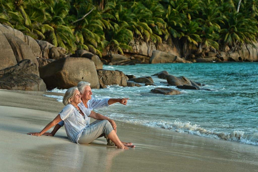 economic citizens enjoying beach in the caribbean