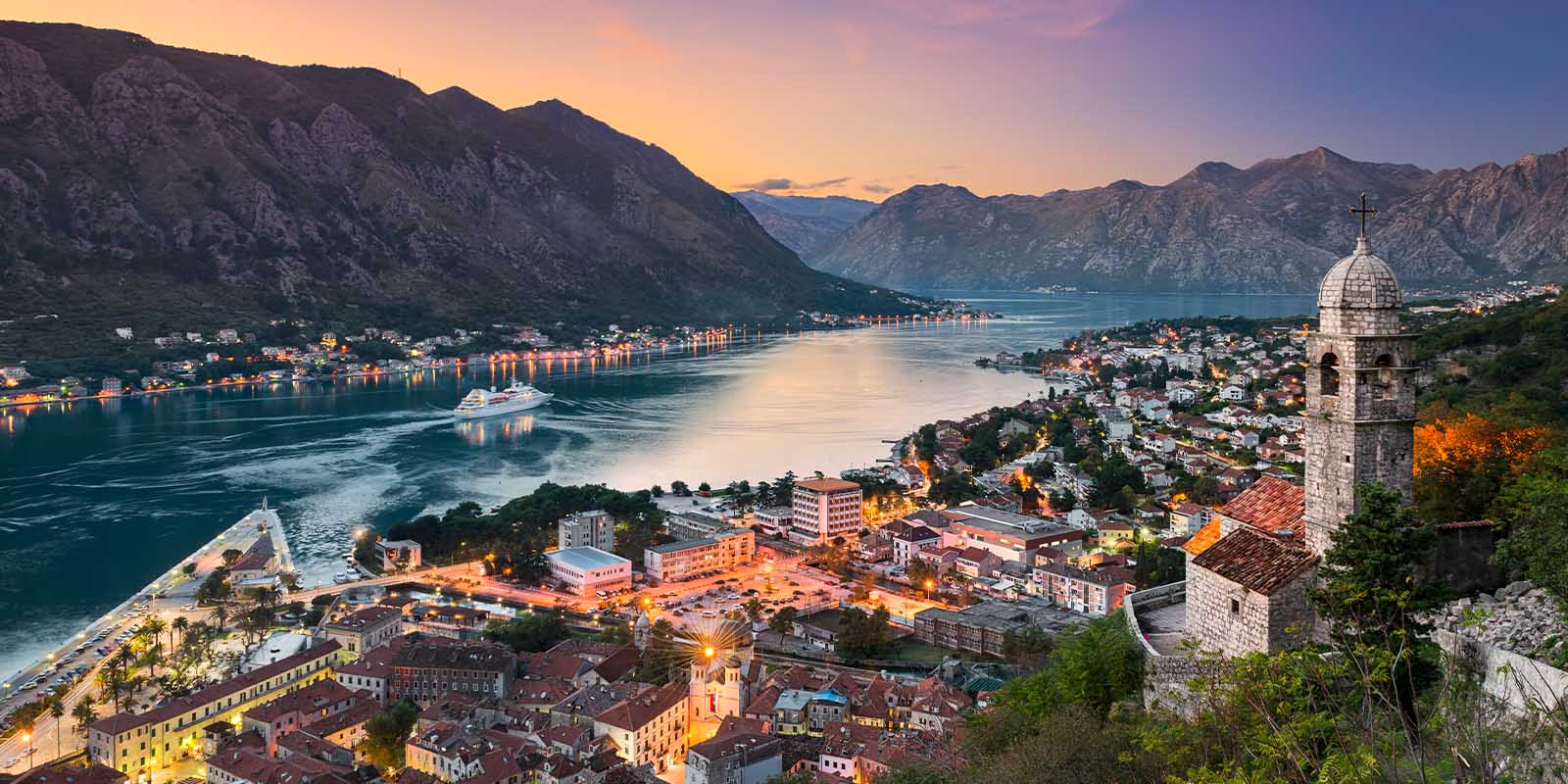 Aerial view of Montenegro