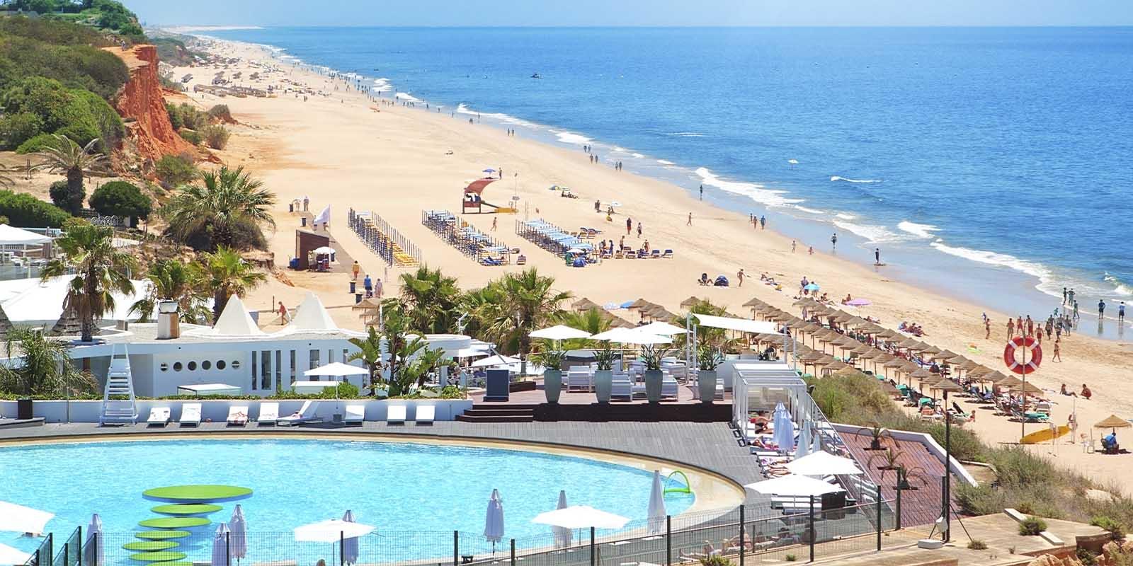 Portuguese beach on summer.