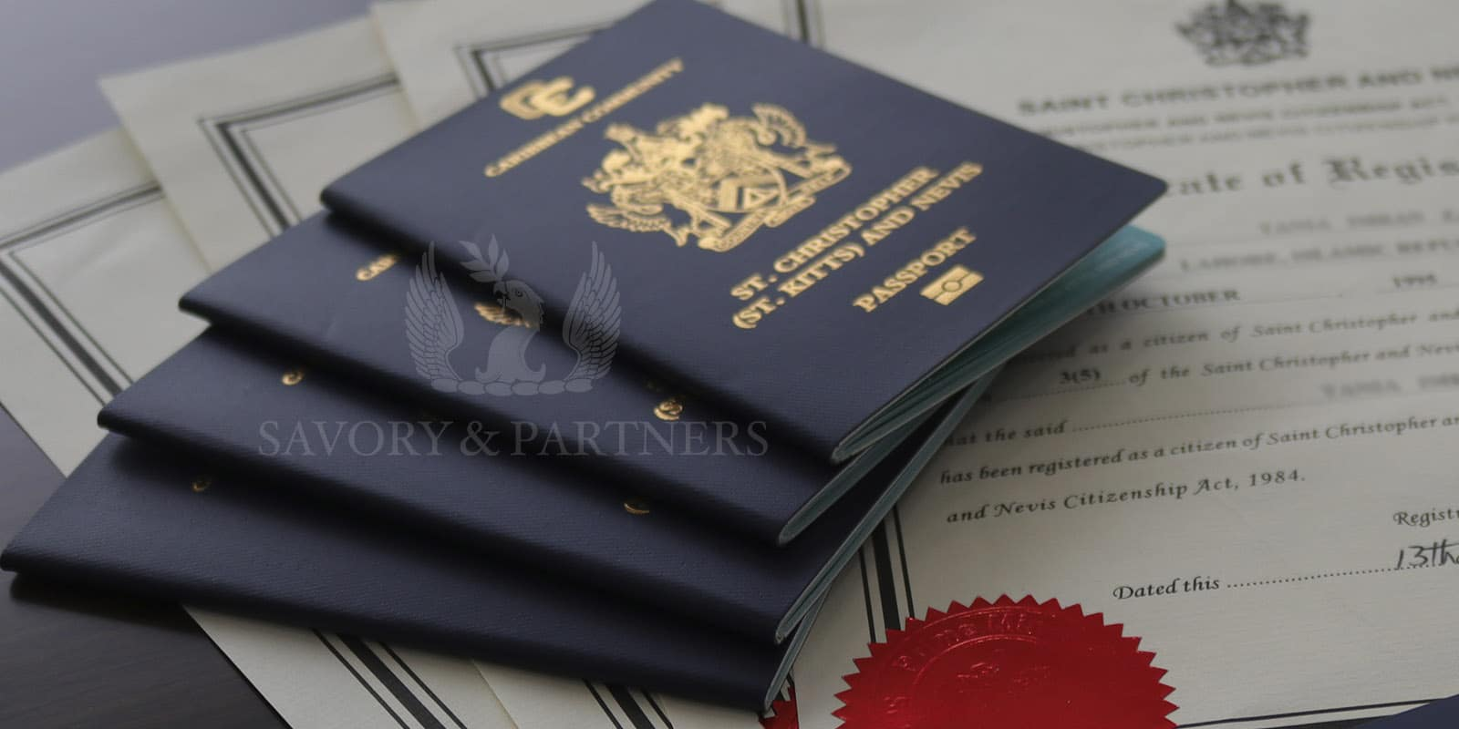 St Kitts & Nevis passports for a family of 4 members.