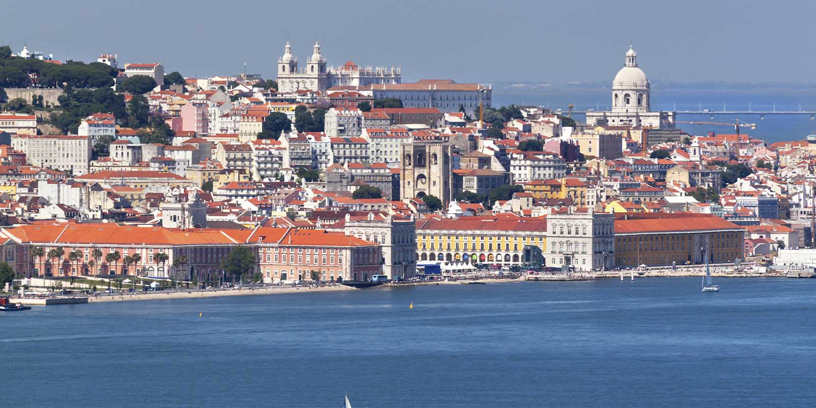 View of Lisbon old city.