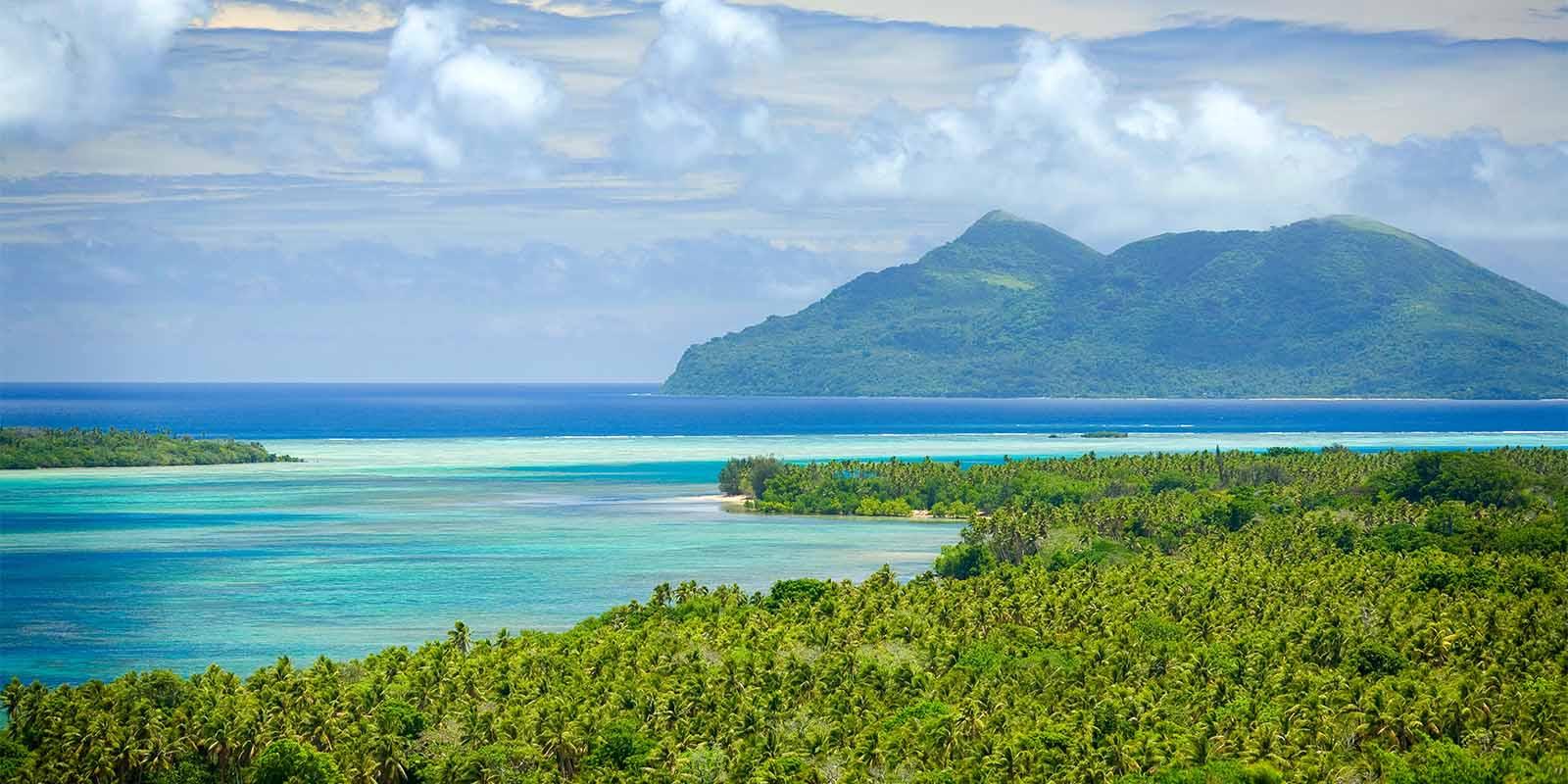 Aerial view of Vanuatu islands