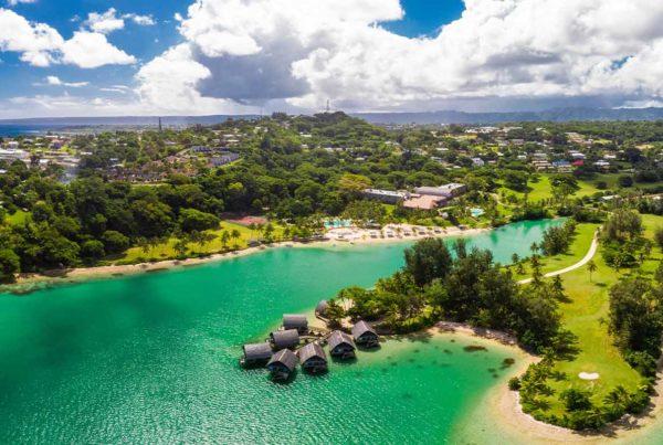 Vanuatu Citizenship by Investment Program - Aeria view of the island