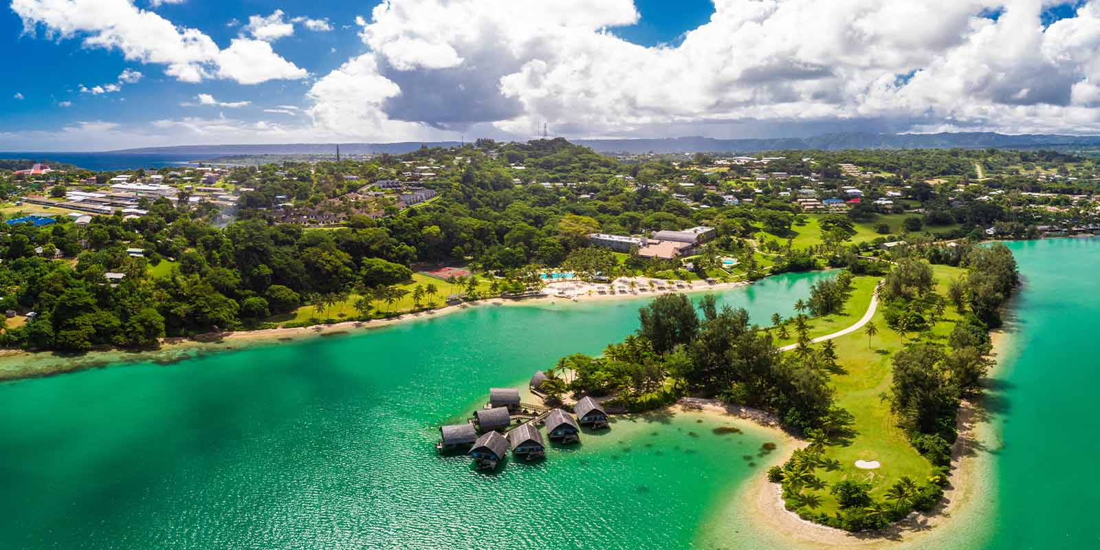 Vanuatu Citizenship by Investment Program - Aeria view of the island