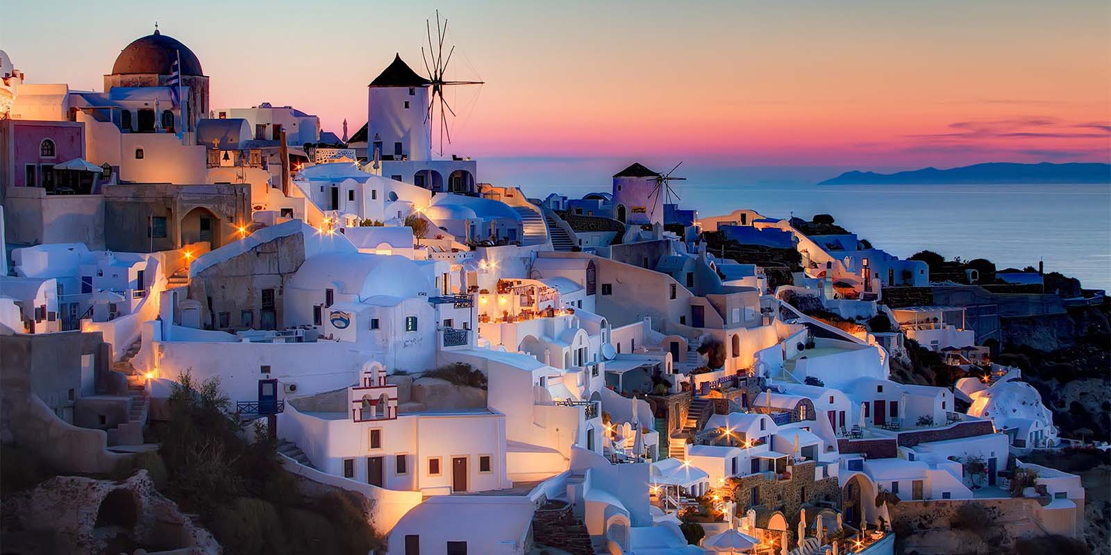 Sunset view from Mykonos - Greece Residency by Investment