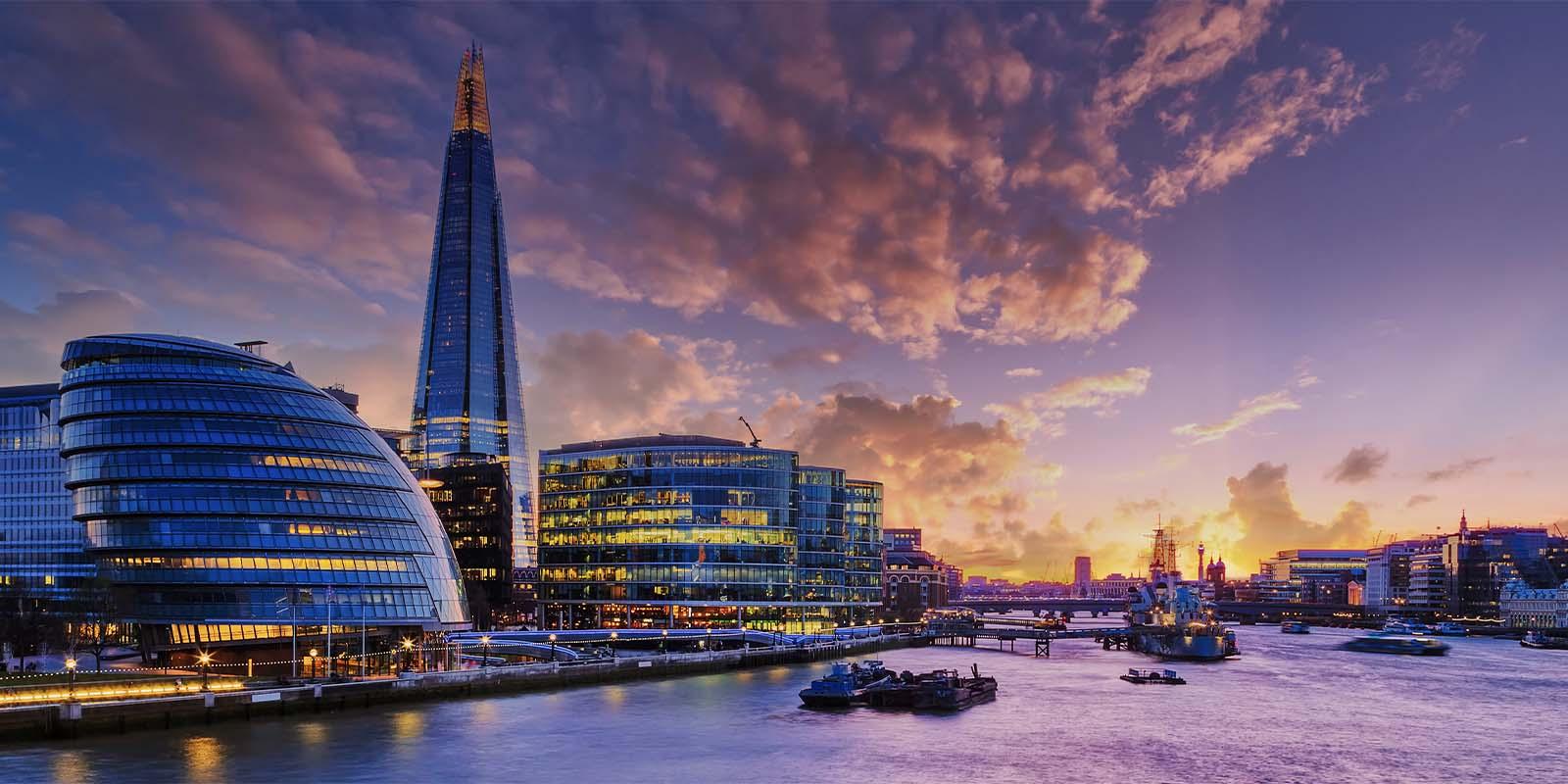 Thames River in London, United Kingdom.