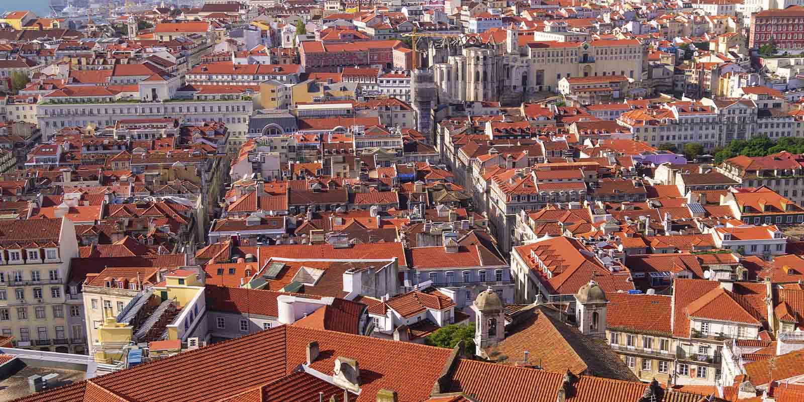 Aerial view of Lisbon.