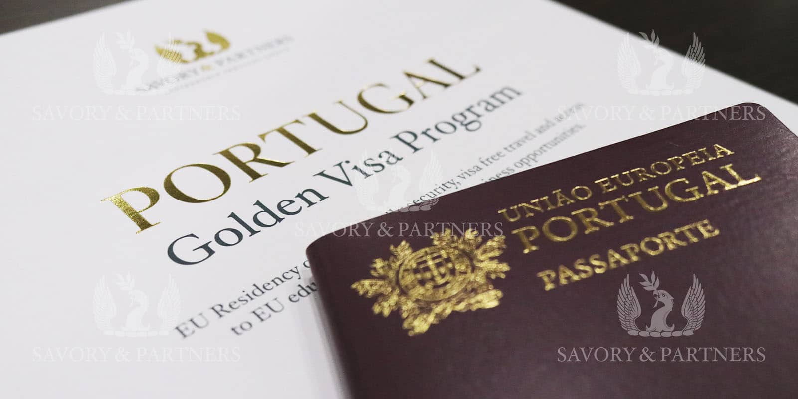 Portugal passport at Savory & Partners Office in Dubai