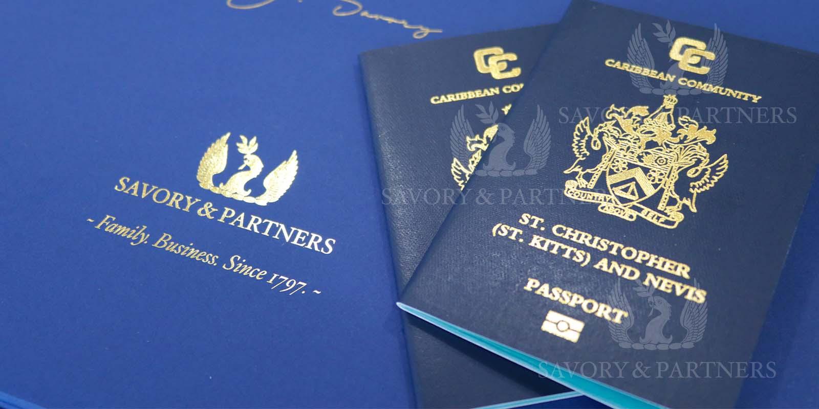 St Kitts & Nevis passports - Savory & Partners Offices, Dubai UAE.